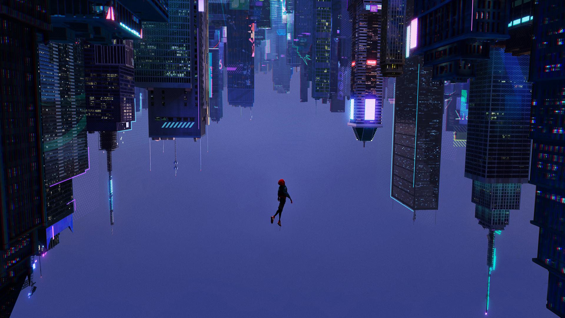 Into The Spider Verse Screenshot Wallpapers Desktop Wallpaper Art Superhero Wallpaper Aesthetic Desktop Wallpaper