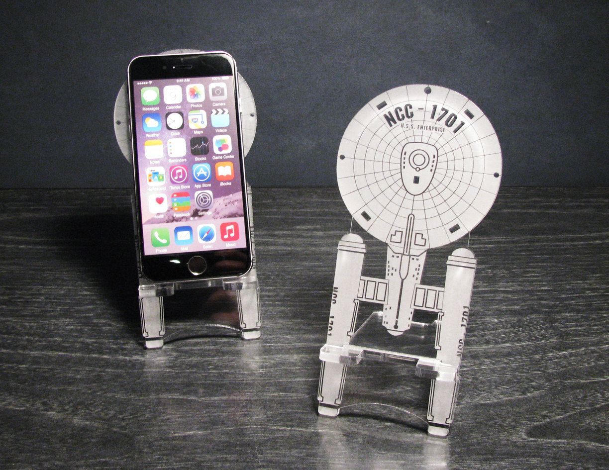 Star Trek Enterprise Ncc 1701 Original Series Smart Phone Stand Iphone 6 Plus 5 Android Samsung Galaxy S3 S4 S5 Desk Accessory 24 00 Usd By