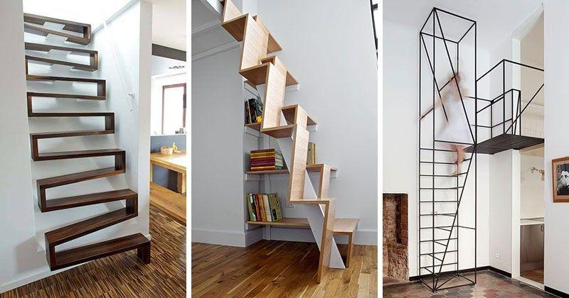 13 Treppe Design Ideen für kleine Räume | Treppe Dachboden ...