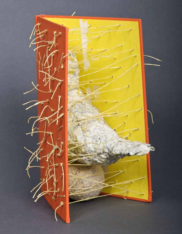 What is Fear? by Lisa Kokin (books reassembled into sculpture)