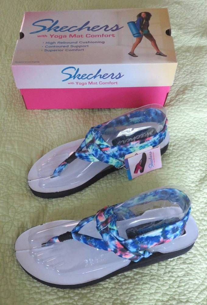 Sold New Skechers Yoga Mat Sandals Ladies Sz 11 Tie Dye