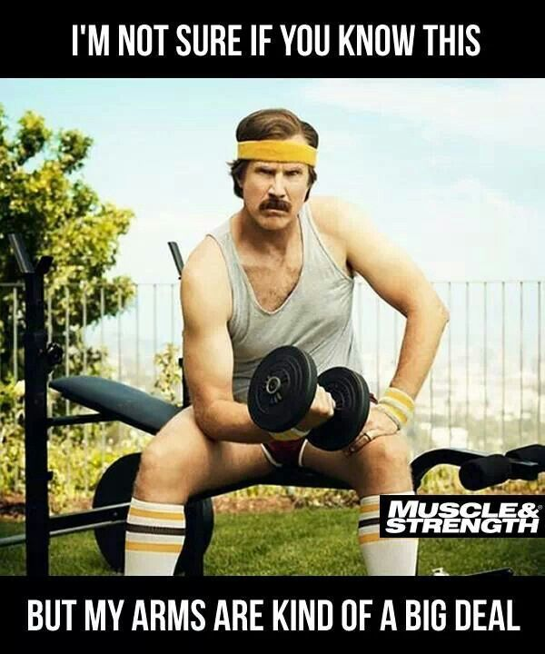 Funny Training Meme : Weight training arnold strength workout act like a