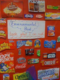 Love for kindergarten fun with environmental print literacy activities alphabet also best pre school images preschool first class rh pinterest