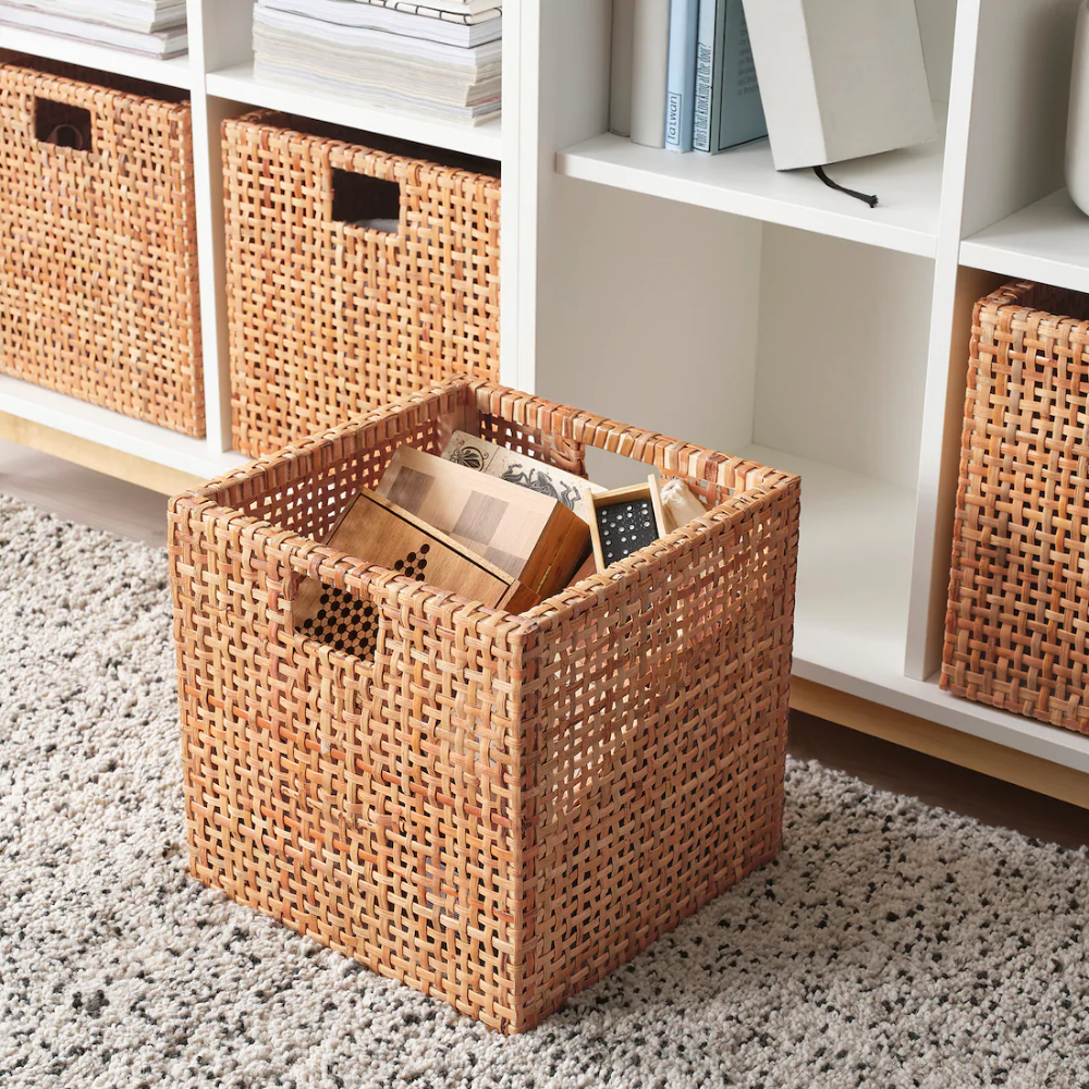 Haderittan Basket 11 X11 X11 Ikea In 2020 Cube Storage Decor Cube Storage Baskets Cube Storage Bins