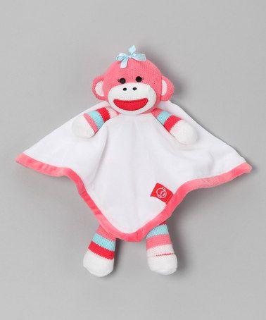Baby Starters Pink Sock Monkey Plush Toy