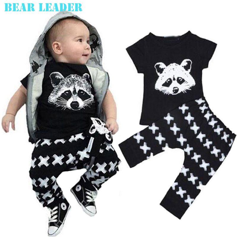 2PCS Newborn Baby Boys Girls Clothing Set Cartoon Lion Tops Shorts PJ Outfit