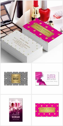 Nail Technician Business Cards Nail Technician Business Cards