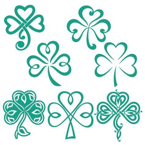 Trébol de la suerte de los diseños Cuttable irlandesa Svg | Tatoo ...