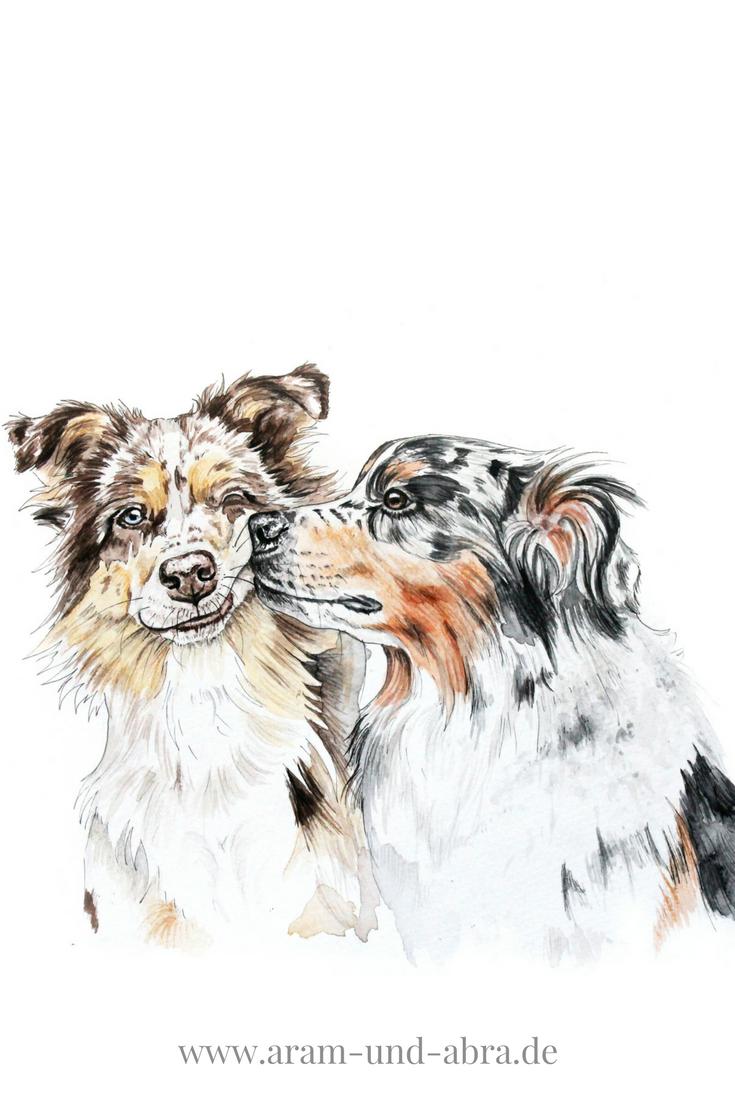 Illustrationen und Portraits | Hund malen lassen, Portfolio Aram und Abra