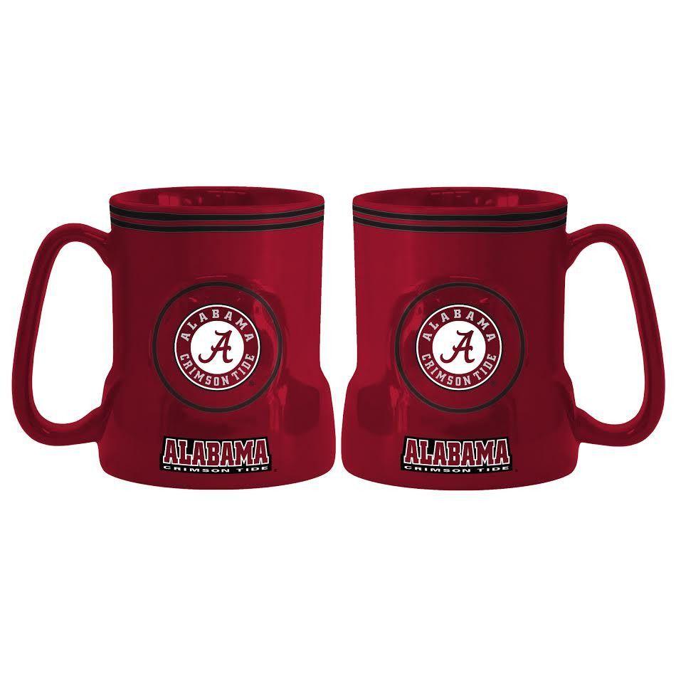 Alabama Crimson Tide Coffee Mug 18oz Game Time Alabama