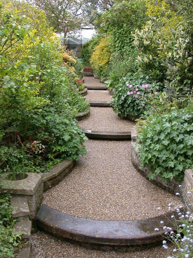 19 Exciting Garden Path Designs Ideas On A Budget Sloped Garden Country Garden Landscaping Beautiful Gardens