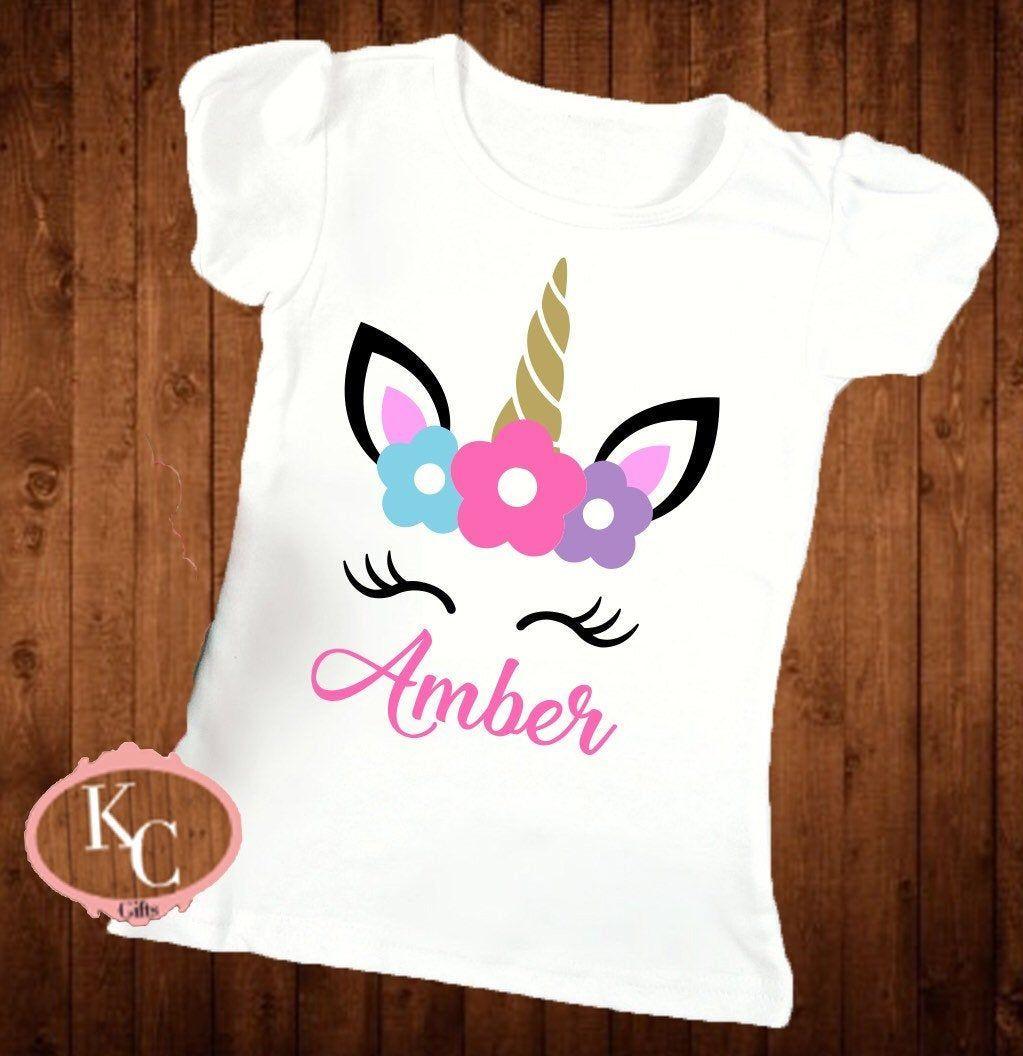 Unicorn shirt ideas Birthday girl shirt Unicorn shirt