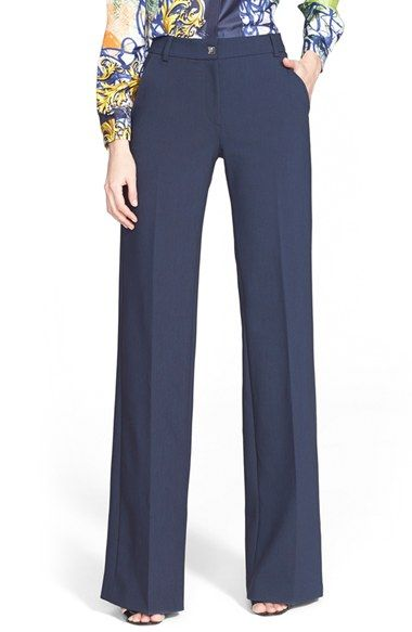 Versace Collection Wide Leg Stretch Cady Pants available at #Nordstrom