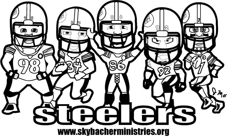 Steelers coloring page | Gage & Sophia\'s Pages | Pinterest
