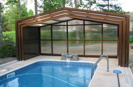 Retractable Roof Pool Enclosures Gallery Aircraft Aluminum Framing And Full Engineering Means Long Life For Your Pool Houses Hot Tub Outdoor Pool Enclosures