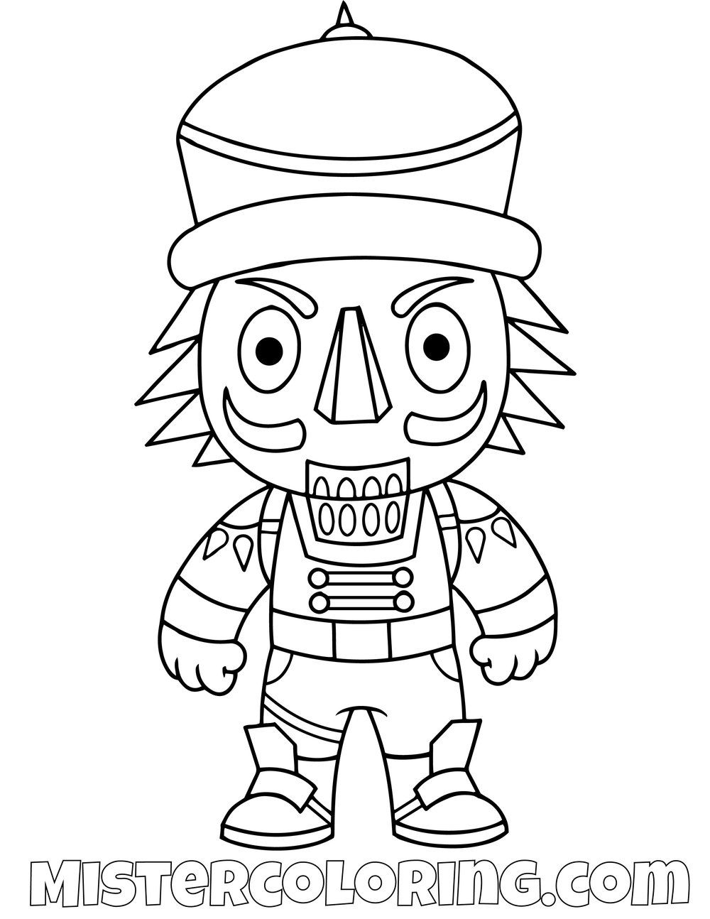 Free Crackshot Chibi Fortnite Coloring Page For Kids Cartoon