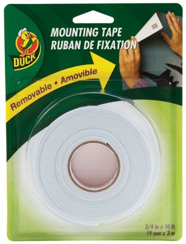 Duck Brand Removable Foam Mounting Tape 0 75 Inch X 10 Feet