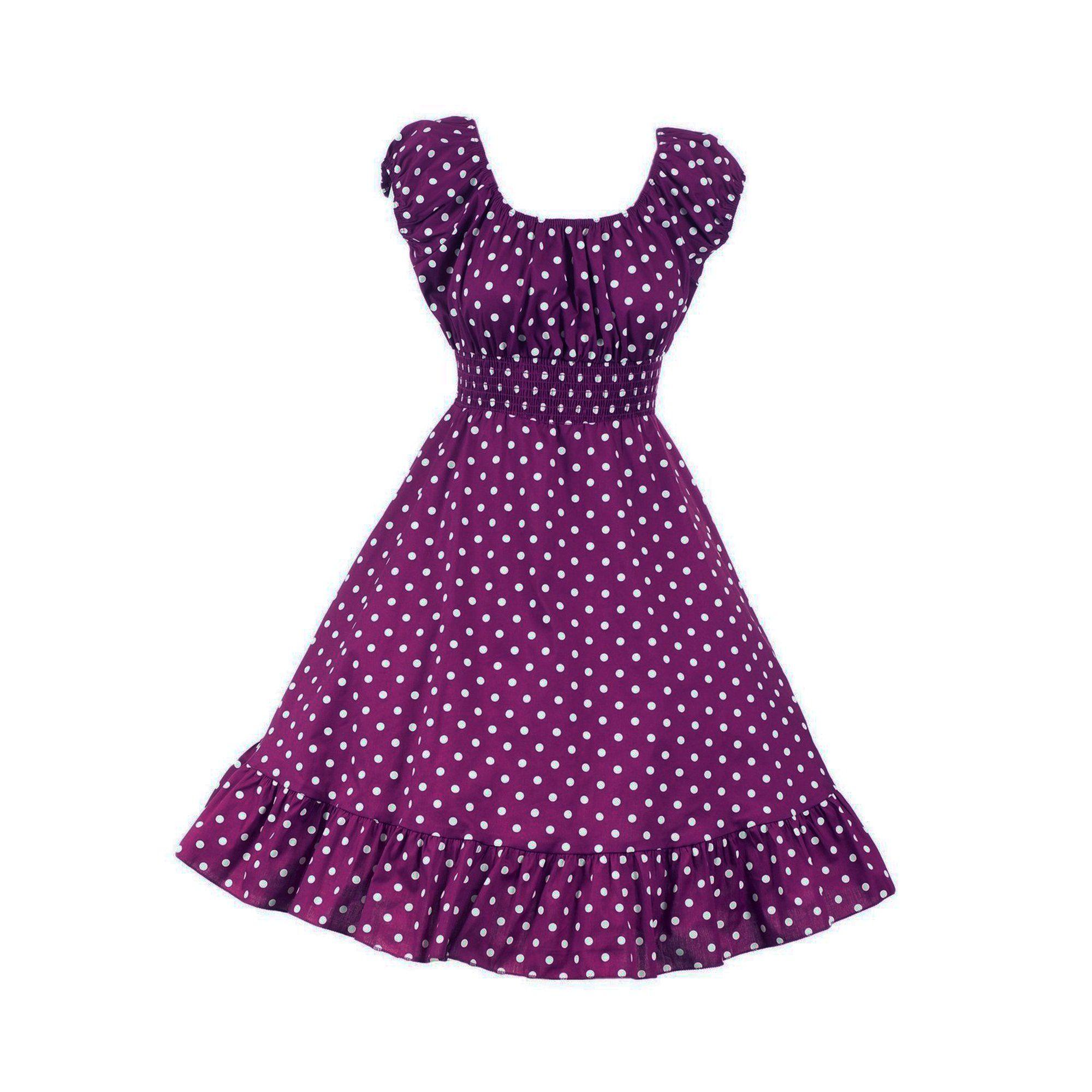 Buddys Usa Vintage 1950s Style Smock Peasant Empire Polka Dot Dress Purple M W28 Walmart Com In 2021 Polka Dot Dress Dot Dress 1950s Fashion [ 2000 x 2000 Pixel ]