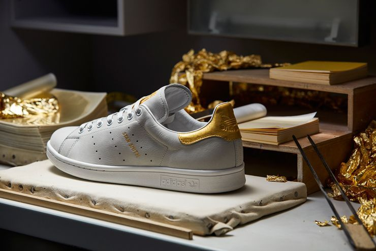 Stan smith, Gold sneakers, Gold adidas