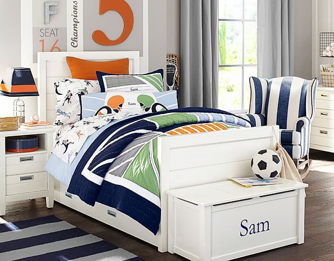 Room ideas · i love the pottery barn kids sports bedroom on potterybarnkids com
