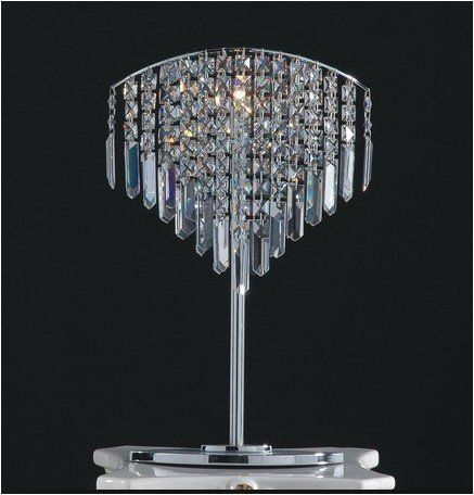 Lovely Unique Crystal Chandelier Light Table Lamp New E054