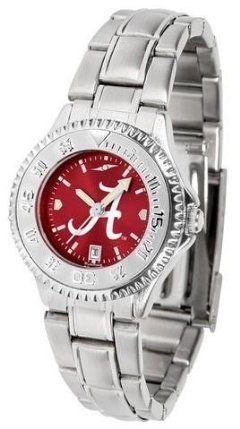 Alabama Crimson Tide Women's Stainless Steel Dress Watch by SunTime. $88.95. Links Make Watch Adjustable. Stainless Steel. Officially Licensed Alabama Crimson Tide Women's Stainless Steel Dress Watch. Women. Water Resistan. Alabama Crimson Tide Women's stainless steel watch. This Crimson Tide dress watch with rotating bezel color-coordinated to compliment your favorite team logo. The Competitor Steel utilizes an attractive stainless steel band. Perfect for any occasion, wh...