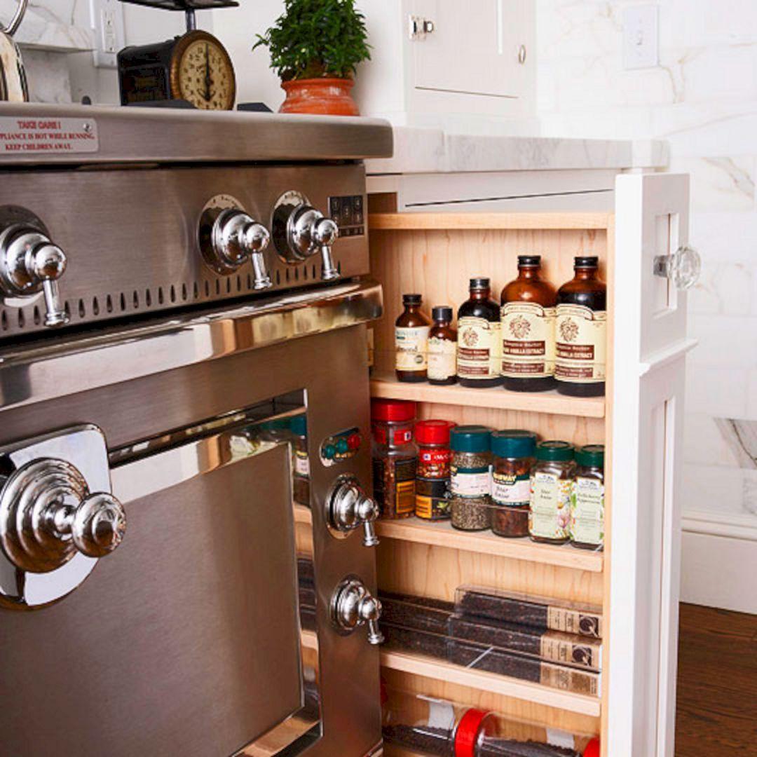 25 gorgeous kitchen storage ideas for small spaces freshouz com kitchen storage solutions on kitchen organization small space id=66752