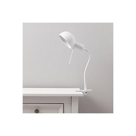 Tutti goose neck white clip on desk lamp