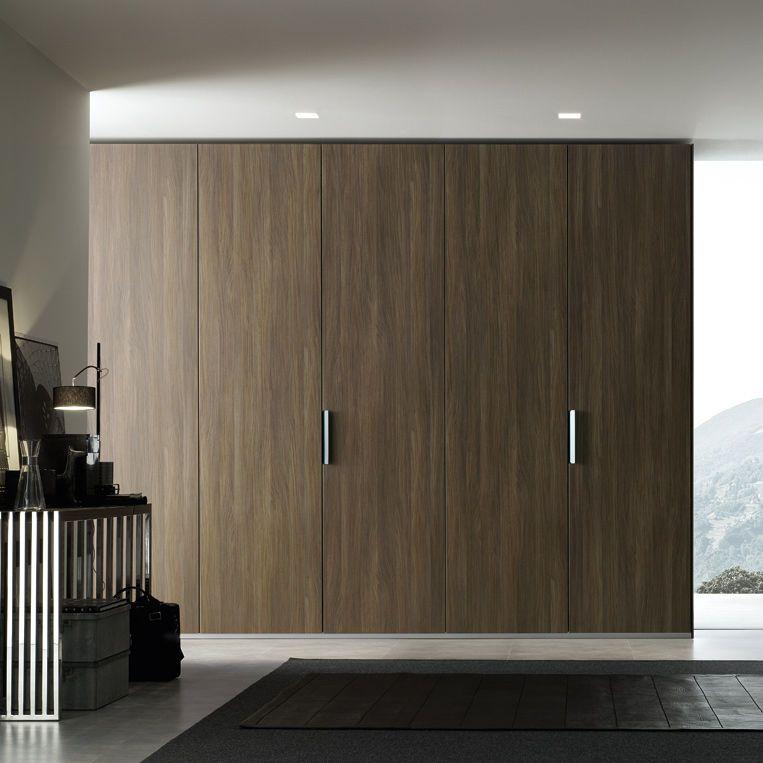 armoire de chambre contemporaine en m lamin porte battante avec porte coulissante sand. Black Bedroom Furniture Sets. Home Design Ideas