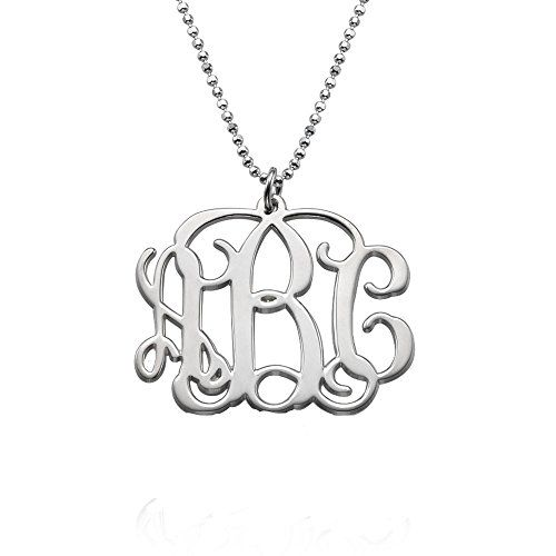 initial monogram necklace custom made with any initial more info