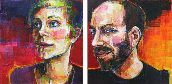 Mutually Beneficial: Gwenn and David by Portland artist Gwenn Seemel