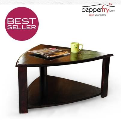 Triangular Coffee Table Sheesham Wood Furniture Table Love