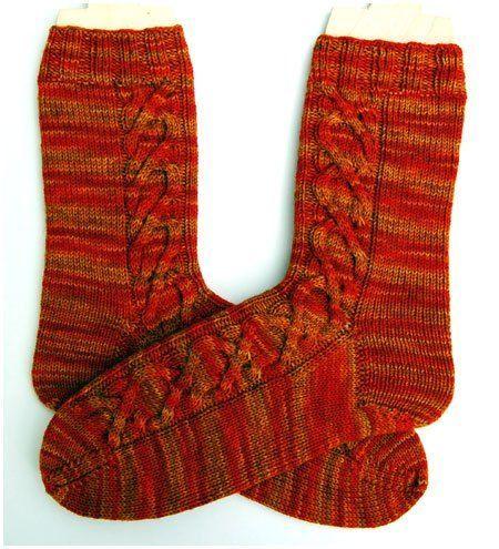 """""""Calendula Zopfsocken"""", aus Wollmeise 100 % Superwash Merino Sockenwolle, Größe 38/39 Benötigt wird: 1 Strang Sockenwolle, 4-fädig, Lauflänge ca. 400 m / 100 g, hier Wollmeise 100 % Superwash Merin…"""