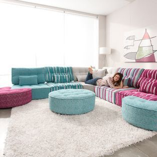 Arianne Love From Fama Living Arianne Love Is A New Concept Of Modular That Brings B Mobilier De Salon Contemporain Deco Bobo Chic Canape Modulable