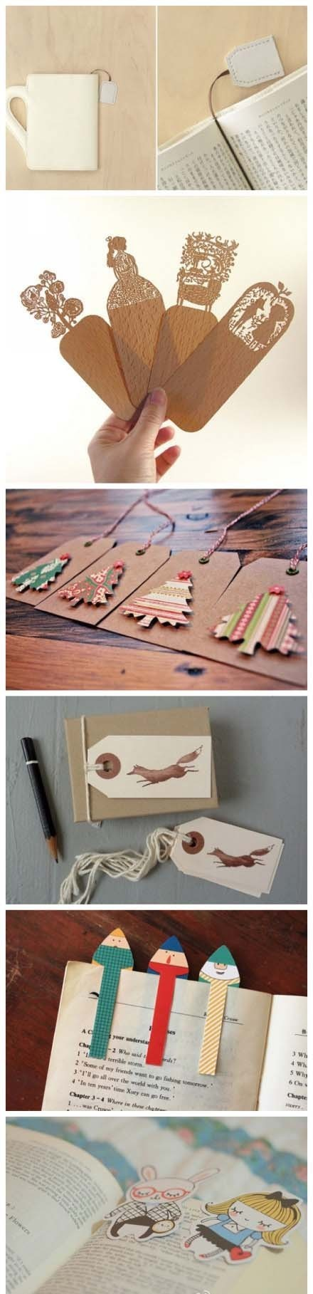 DIY Bookmarks - HA! these are SO not DIY, but they are fantastic