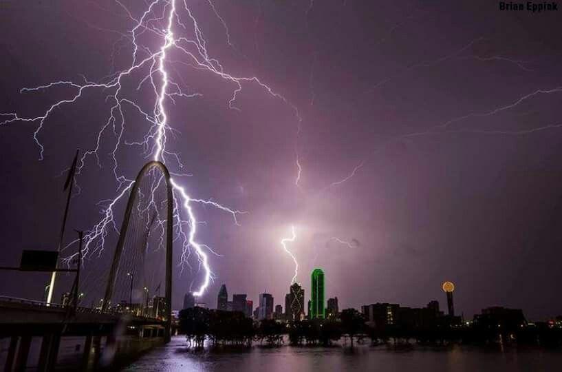 St Louis riverfront storm