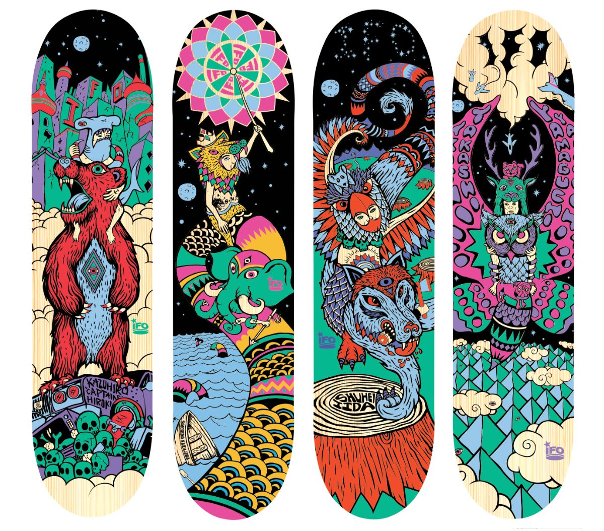 Shop clarity skateboarding skateboard designs cool - Skateboard dessin ...