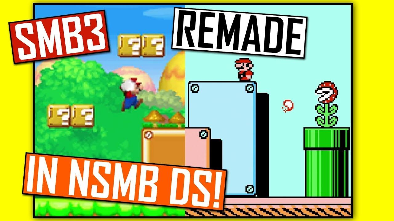 Super Mario Bros 3 Remade In Neu Super Mario Bros Ds Rom Hack Super Mario Bros Mario Bros Super Mario