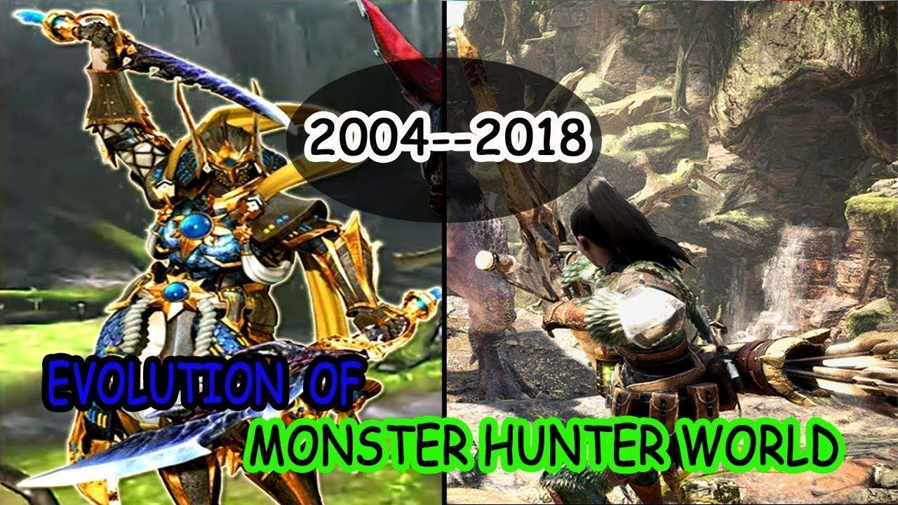 Evolution of monster hunter world 20042018 history