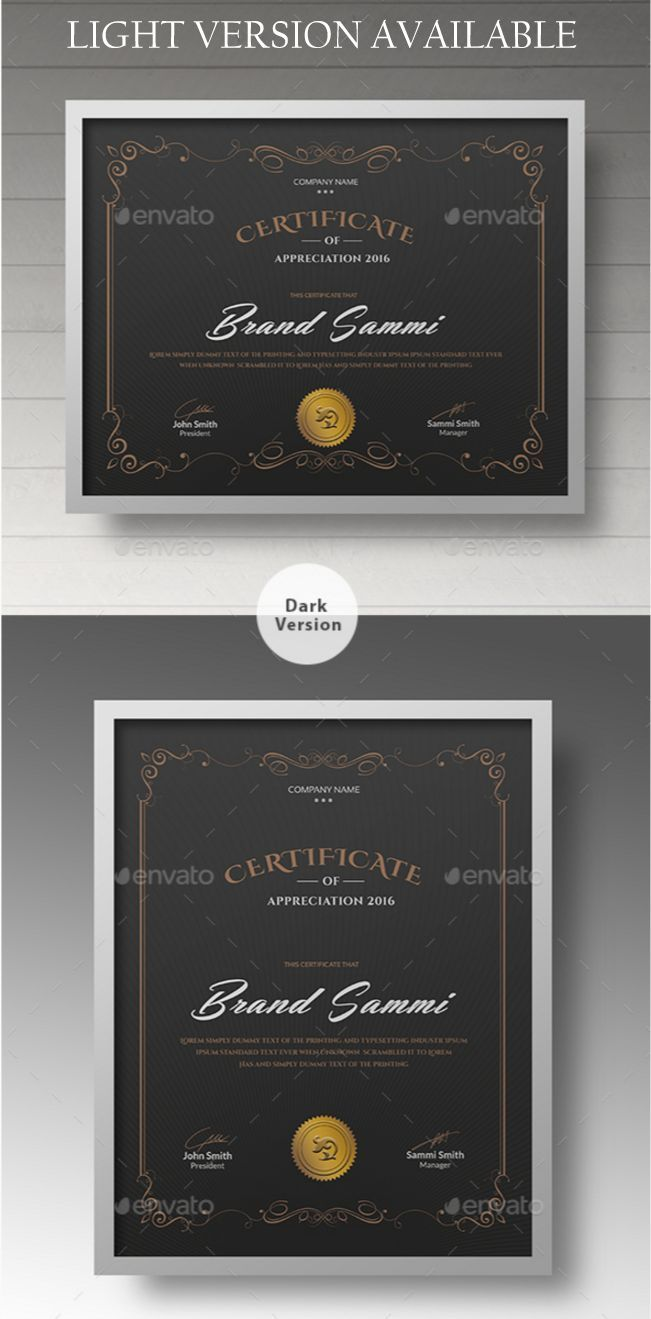 Awesome Certificate Templates In Psd Ms Word Vector Eps Formats
