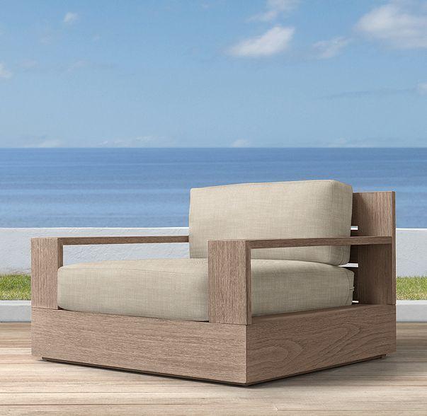 Marbella Teak Classic Lounge Chair Teak Outdoor Furniture