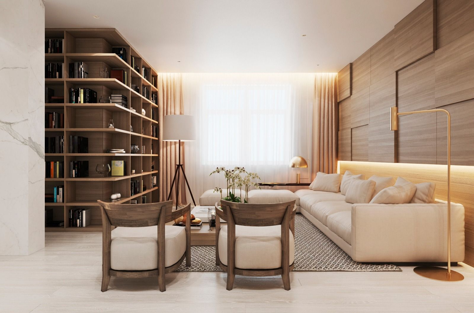 Modern Apartment In Moscow With Wood As A Central Element Contemporary Lighting Living Room Modern Apartment Apartment Design