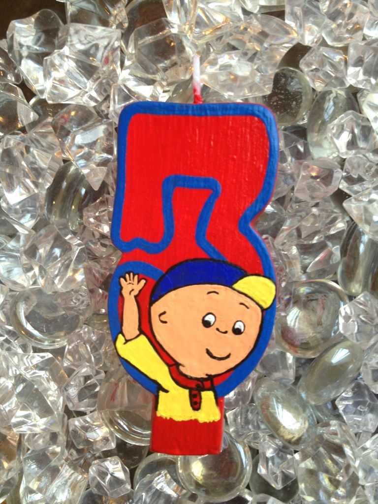Im Caillou Custom birthday cake candle from The Glitz Shop