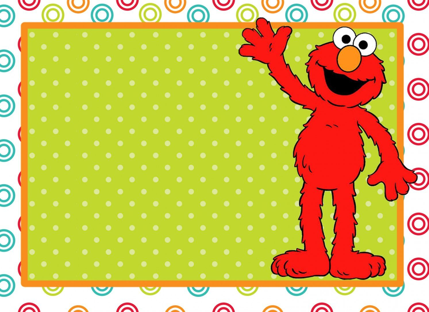 FREE Printable Sesame Street 1st Birthday Invitations Templates