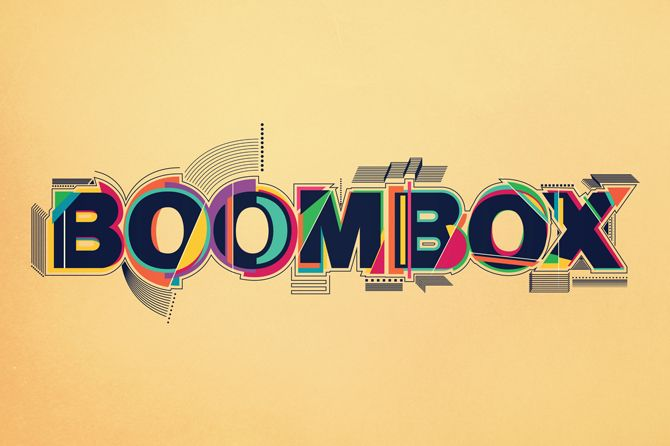 BOOMBOX #typography #type #colors #colorful