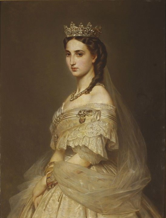 Empress Charlotte of Mexico nee Pss of Belgium by Albert Graefle.1868