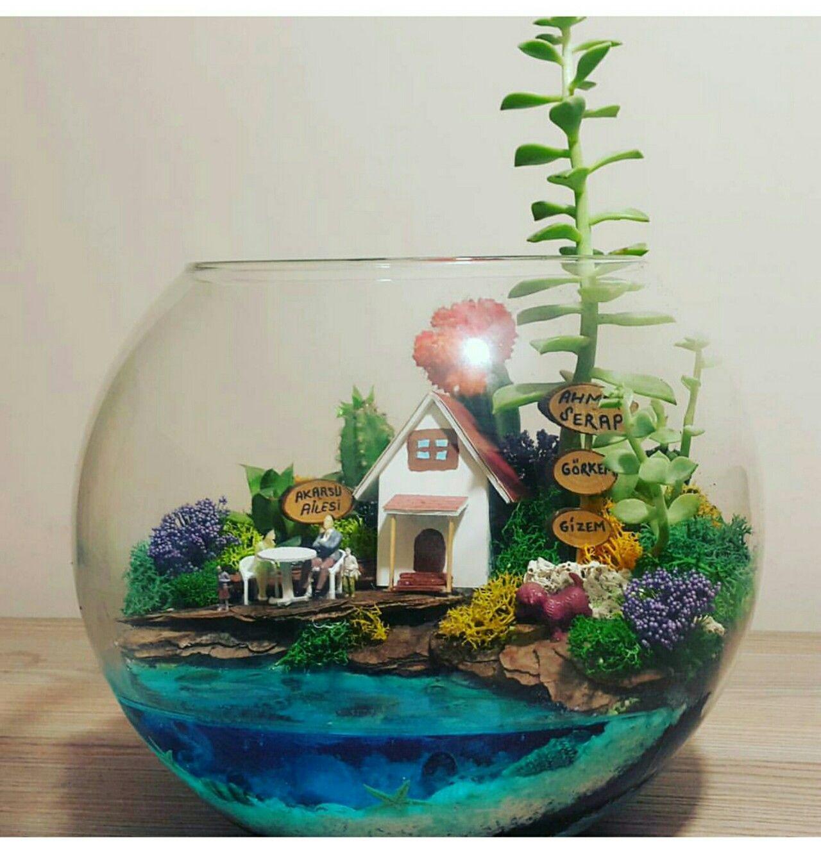 Lakeside terrarium terrarium terrarium garden terrarium miniature fairy gardens - Miniature terrarium decorations ...