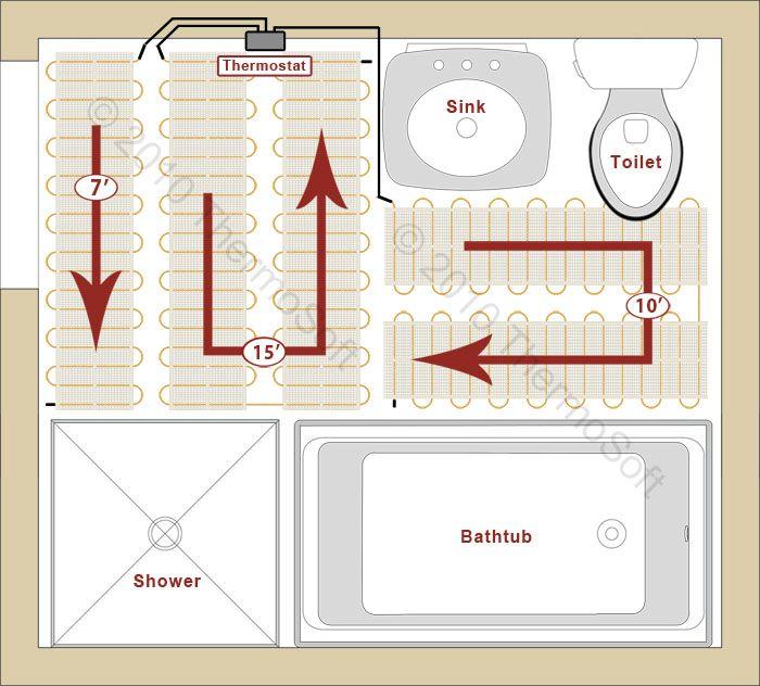 Thermosoft Radiant Floor Heat Layout