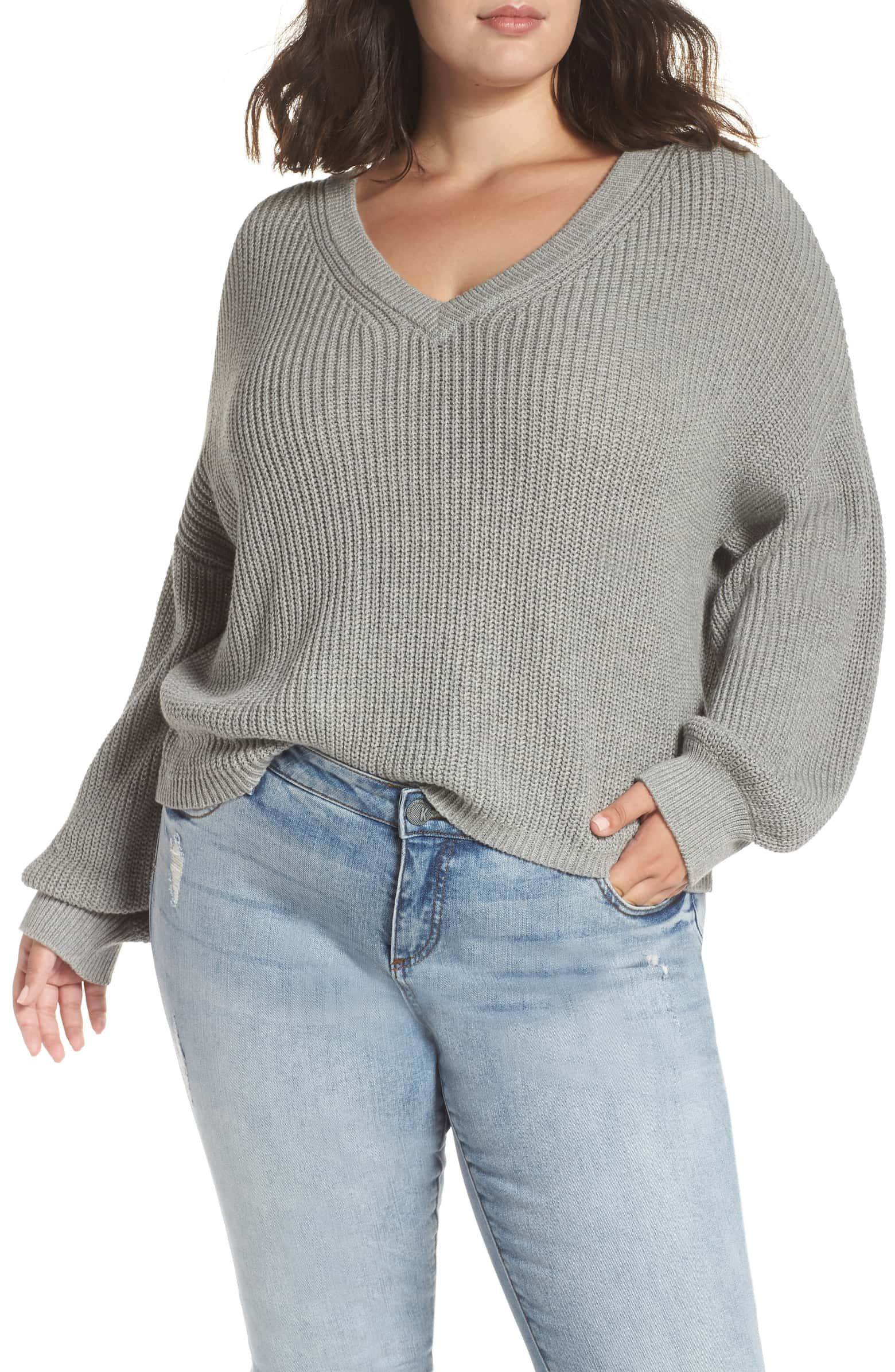 7d42d1deb V Neck Cotton Sweater