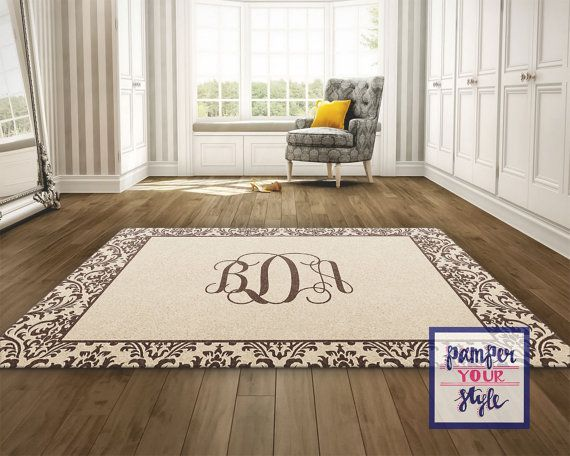 Tan And Brown Custom Area Rug Personalized Living Room Rug